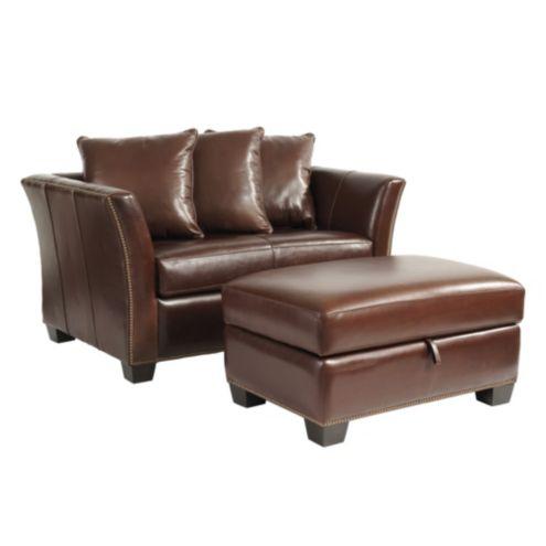 - Tate Leather Twin Sleeper And Storage Ottoman Ballard Designs