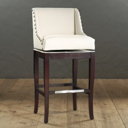 Marcello Barstool with Pewter Nailhead Trim European Inspired Home Furnishings