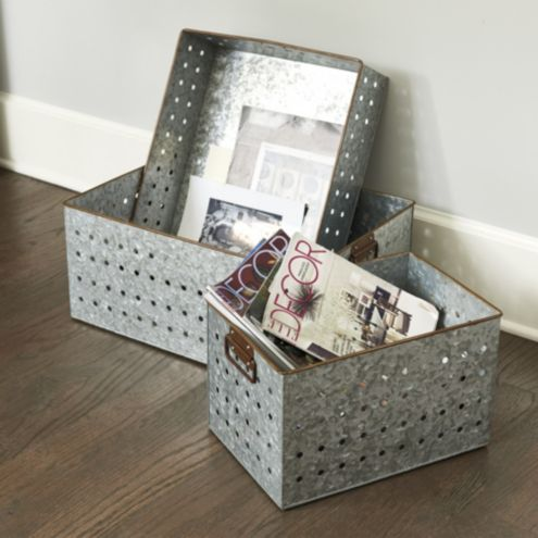 Galvanized Storage Bins