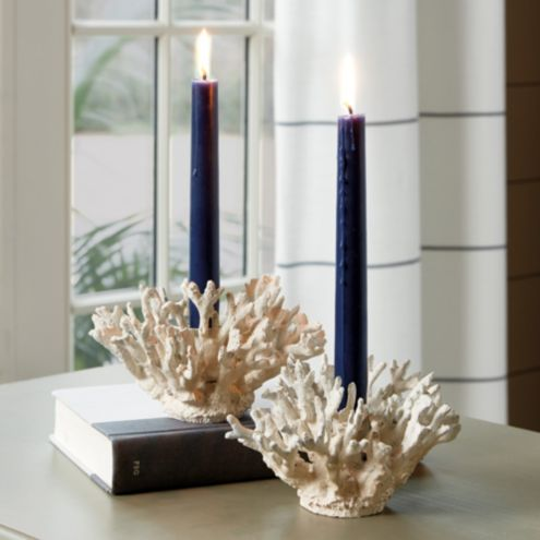 Coral Taper Candle Holder - Set of 2
