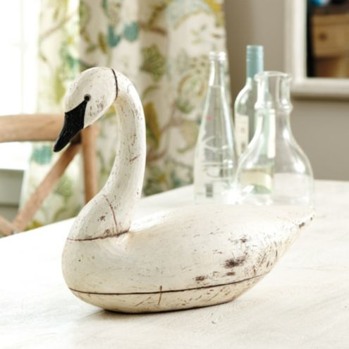Wooden Swan Decoy