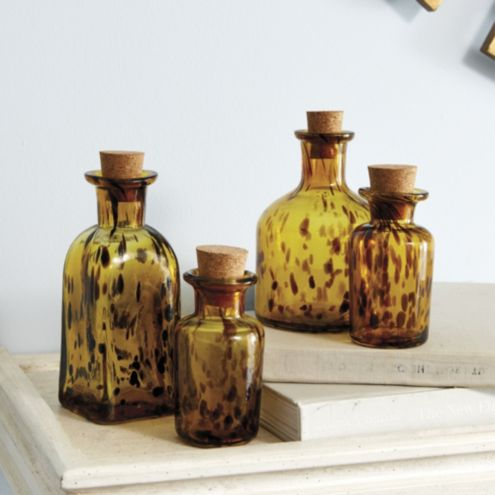 Tortoise Apothecary Bottles - Set of 4