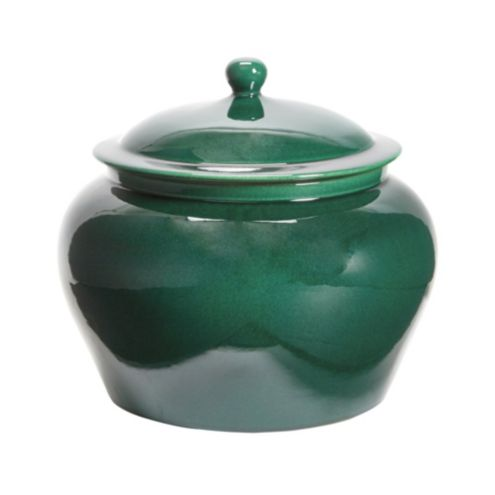 Jade Glazed Porcelain Ginger Jar
