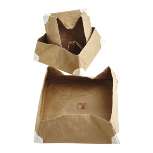 Greensly Kraft Paper Containers - Set of 3