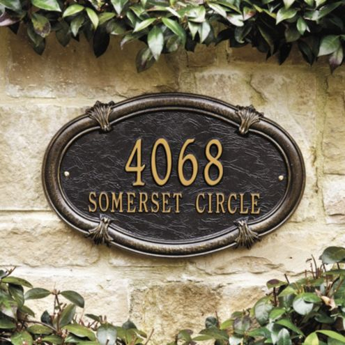 Somerset Oval Wall Address Sign | European-Inspired Home