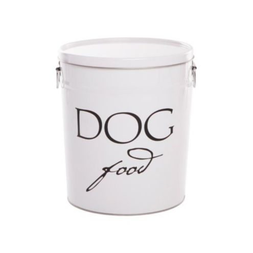 Pet Food Canisters -White Lacquer Finish