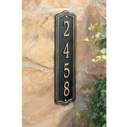 Beaded Vertical Wall Sign - Beaded Vertical Address