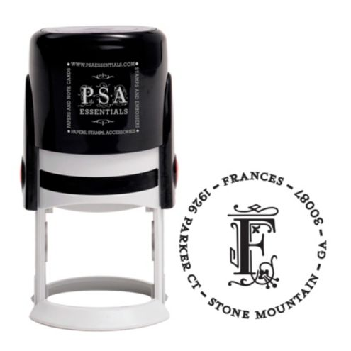 Custom Stamp - Frances with Address