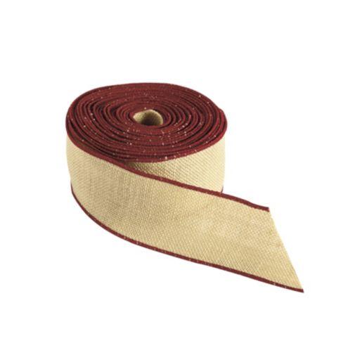 Wired Burlap Ribbon