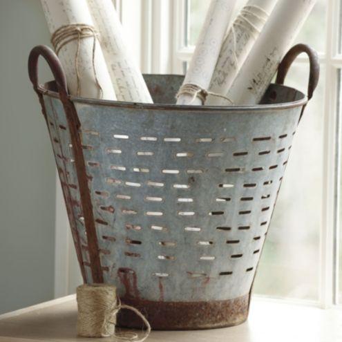 Found Olive Bucket | Home Accessories