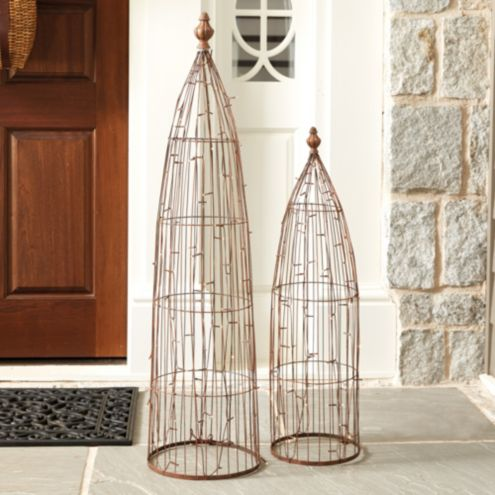 Twinkling Wire Garden Finials