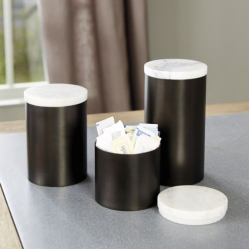 Marble Top Canisters