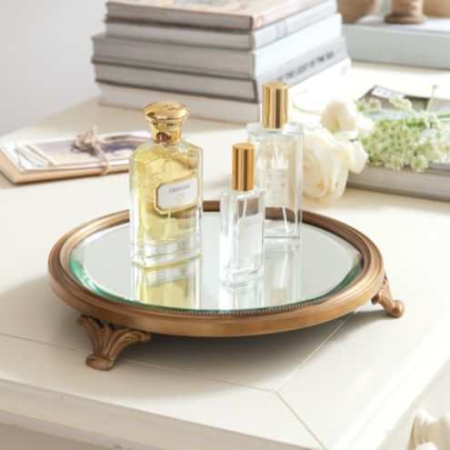 Footed Mirror Tray