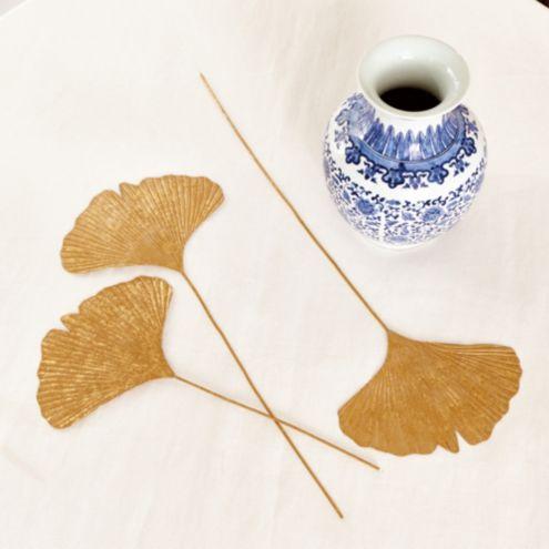 Gilded Ginkgo Leaves - Set of 3