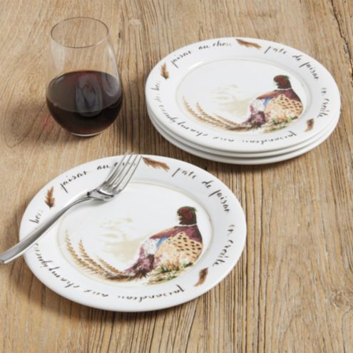 Pheasant Accent Plate - Set of 4