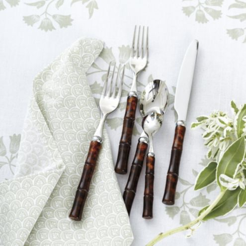 Bunny Williams Bamboo Tortoise Flatware 20-Piece Set