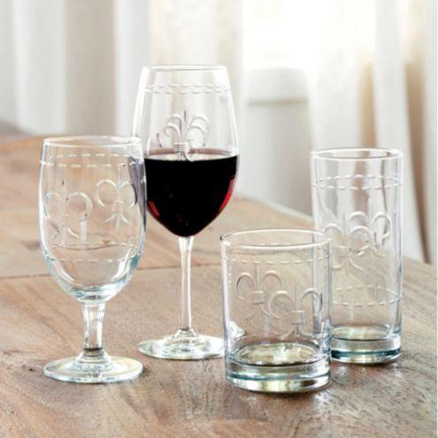 Fleur-De-Lis Glassware - Set of 4
