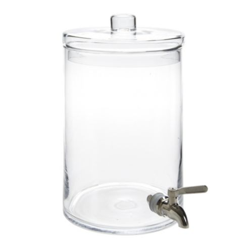 Cylinder Glass Beverage Dispenser