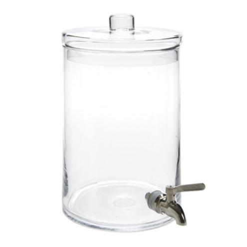 Cylinder Glass Beverage Dispenser