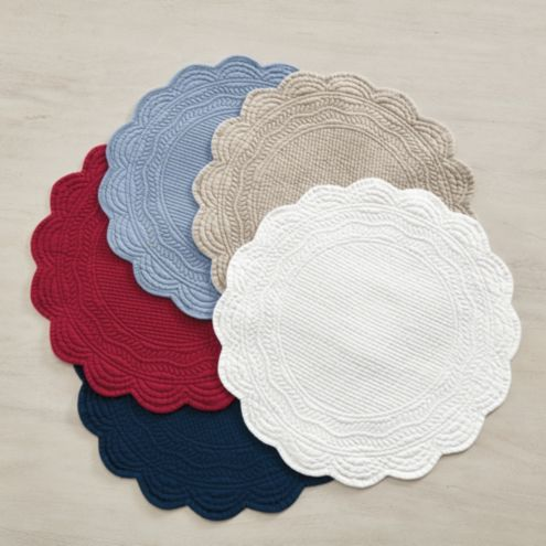 Marseille Set of 4 Linen Round Placemats