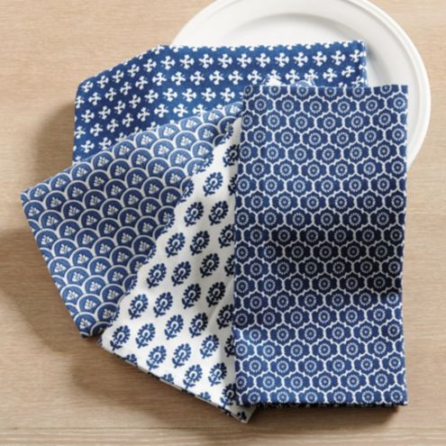 Edie Block Print Napkins | Set of 4