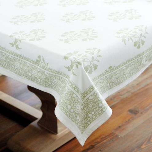 Edie Block Print Tablecloth
