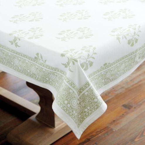 Edie Block Print Tablecloth