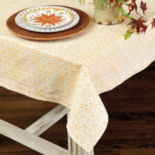 Bunny Williams Orange Blossom Tablecloth