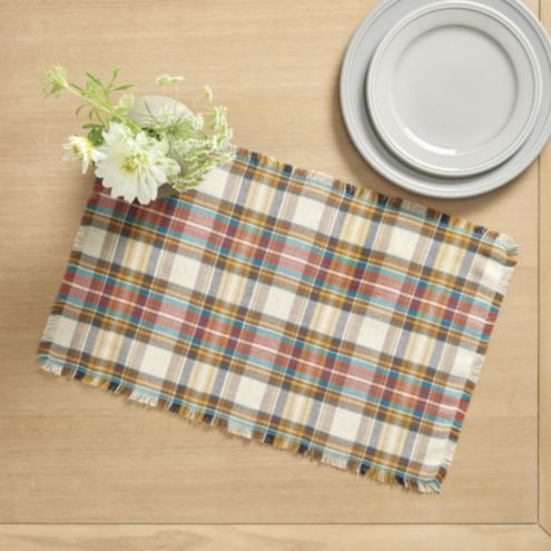 Harvest Plaid Placemat - Set of 4