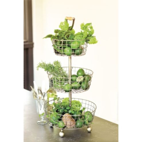 Tiered Wire Basket | European-Inspired Home Furnishings