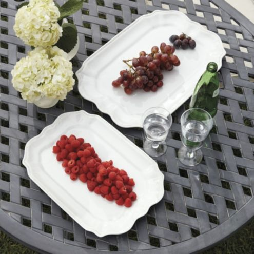 Catania Melamine Rectangular Serving Platters - Set of