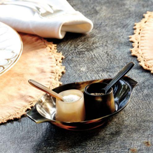 Bunny Williams Horn Salt & Pepper Set