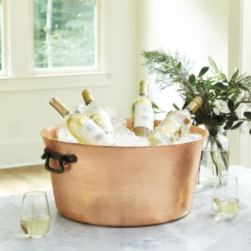 Bristol Copper Double Walled Beverage Tub