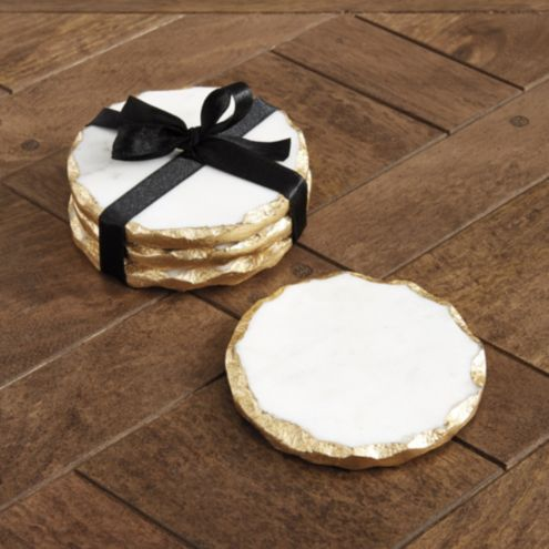 Gilded Stone Coasters - Set of 4