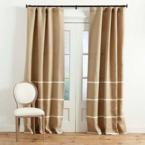 Georgina Trim Striped Burlap Panel