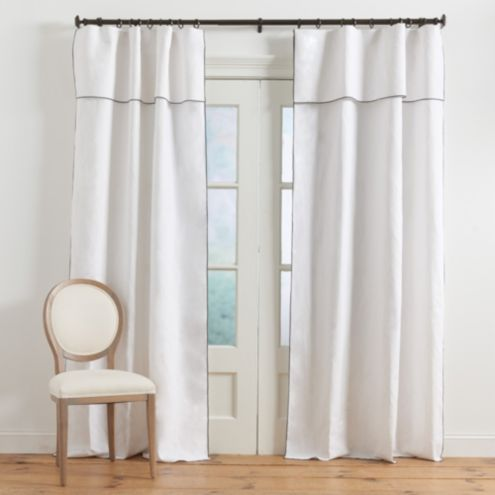 Cate Linen Panel with Valance