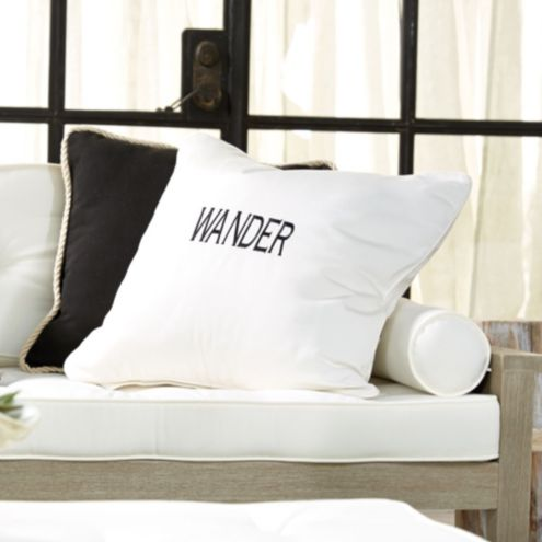 Vacay Embroidered Indoor/Outdoor Pillow Cover