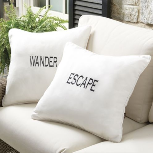 Vacay Embroidered Indoor/Outdoor Pillow