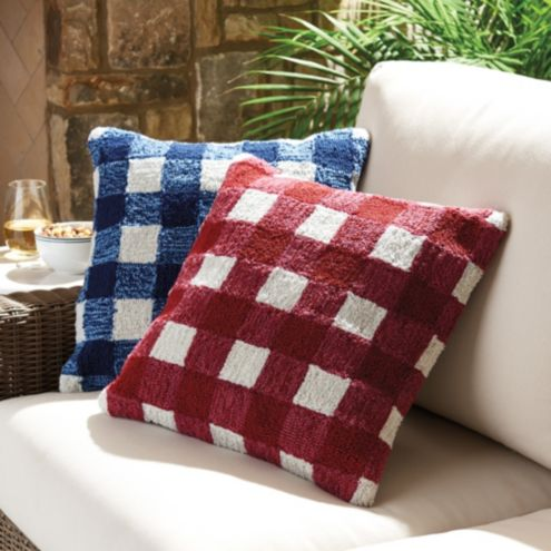Check Indoor/Outdoor Pillow