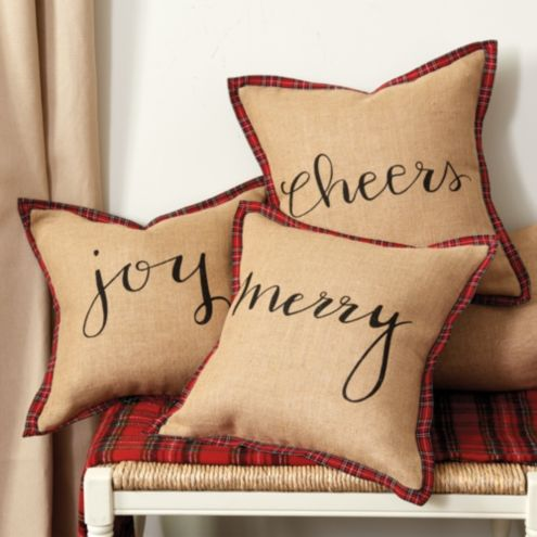 Holiday Script Pillow