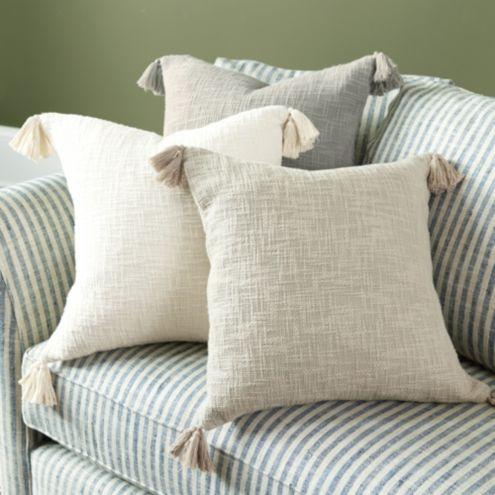 Caza Slubby Tassel Pillow