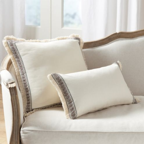 Liya Trim Fringed Pillow