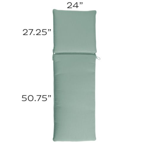 Chaise Cushion with Knife Edge Welts - S