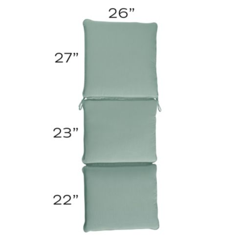 Chaise Cushion with Knife Edge Welts - R