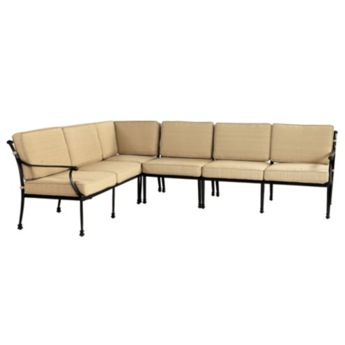 Outdoor Amalfi 4 Piece Sectional Cushion with Box