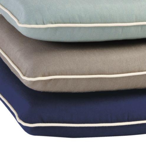 Contrast Welt Chair Cushion with Box Edge -