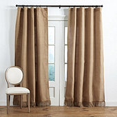 lined burlap drapes | ballard designs