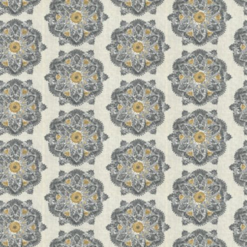 Vierra Gray Fabric by the Yard