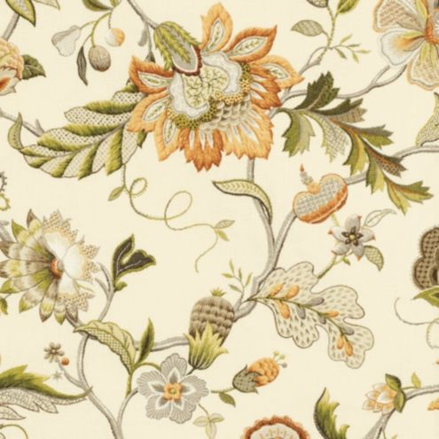 Augustine Amber Fabric by the Yard