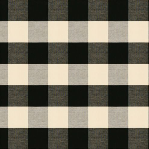 Buffalo Check Black Fabric by the Yard